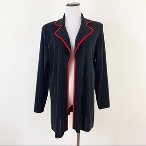Exclusively Misook Open Front Cardigan Tunic Style